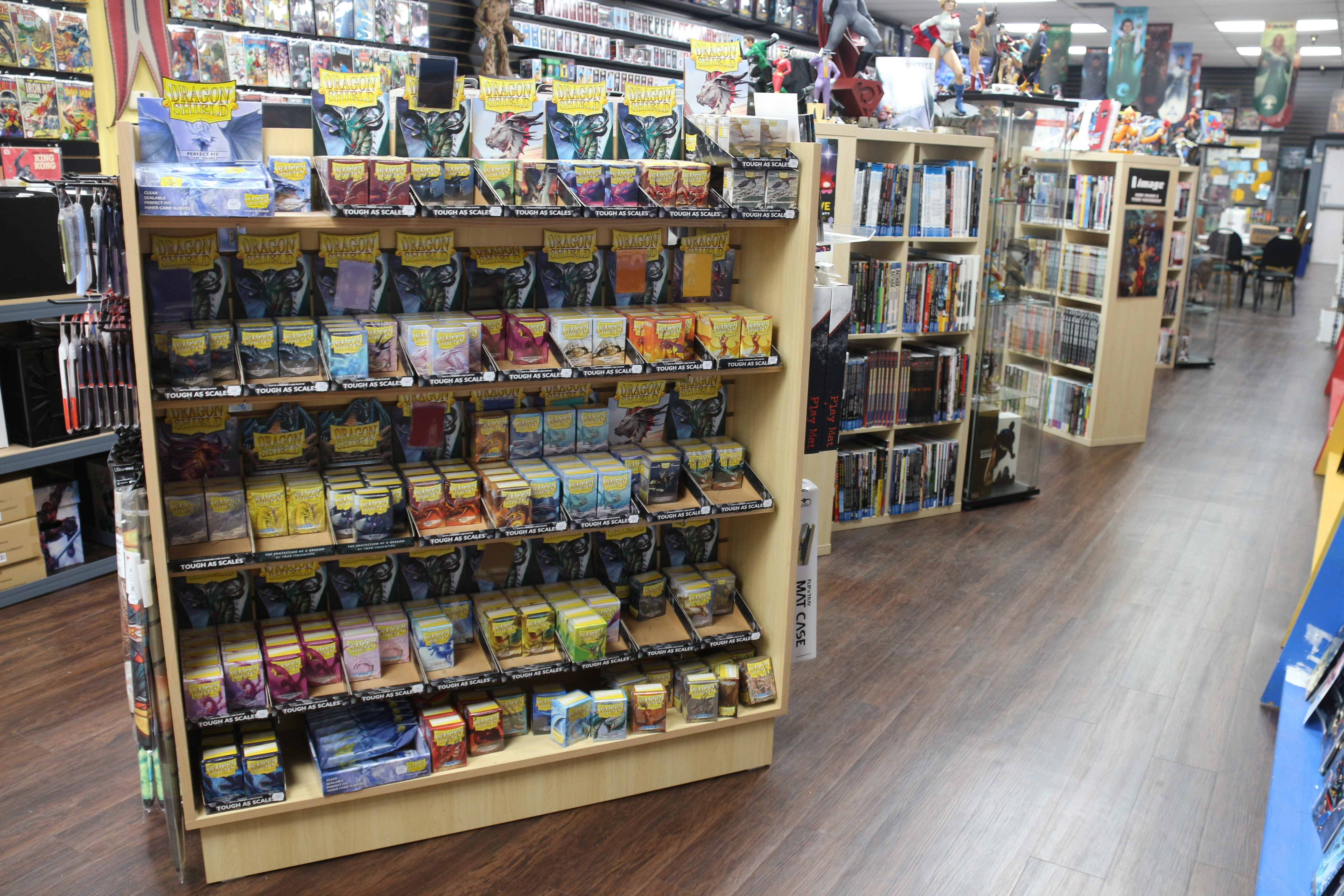 Card Supplies and Trade Paperback Selections